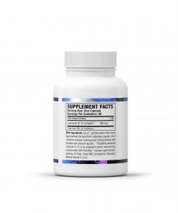 Supplemental Facts/Ingredients for CoQ10 Pro